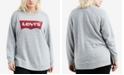 Levi's Plus Size Cotton Relaxed Batwing Logo Sweatshirt