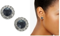 Charter Club Gold-Tone Pavé & Stone Halo Stud Earrings, Created for Macy's