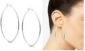 """Essentials Skinny Oval 2.3"""" Large Hoop Earrings  in Fine Silver-Plate"""