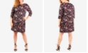 NY Collection Plus Size Necklace Jacquard-Knit Shift Dress