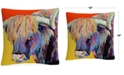 "Baldwin Pat Saunders-White Scotty 16"" x 16"" Decorative Throw Pillow"