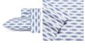 Nautica Woodblock Fish King Blue Sheet Set