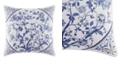 Laura Ashley Charlotte Blue Square Pillow