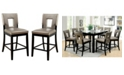 Furniture of America Nosbisch Upholstered Pub Chair (Set of 2)