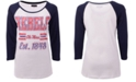 5th & Ocean Women's Ole Miss Rebels Team Stripe Raglan T-Shirt
