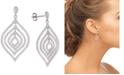 Tiara Cubic Zirconia Orbital Drop Earrings in Sterling Silver