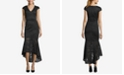 XSCAPE Allover Lace High-Low Midi Dress
