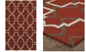 Tommy Bahama Home CLOSEOUT!   Atrium Indoor/Outdoor 51103 Red/Brown 5' x 8' Area Rug