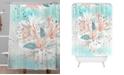 Deny Designs Iveta Abolina Tropical Teal Shower Curtain