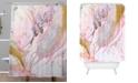 Deny Designs Iveta Abolina Winter Marble Shower Curtain