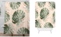 Deny Designs Iveta Abolina Bohemian Monstera Shower Curtain