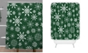 Deny Designs Iveta Abolina Silent Night Green Shower Curtain