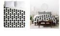 Deny Designs Holli Zollinger Triangles Black King Duvet Set