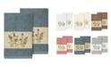 Linum Home Serenity 2-Pc. Embellished Hand Towel Set