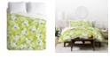 Deny Designs Iveta Abolina Sweet Stella Green Queen Duvet Set