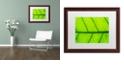 """Trademark Global Cora Niele 'Leaf Texture III' Matted Framed Art, 16"""" x 20"""""""