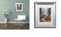 """Trademark Global Cora Niele 'Hiking Trail' Matted Framed Art, 11"""" x 14"""""""