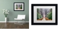 """Trademark Global Cora Niele 'Rhododendron Lane' Matted Framed Art, 11"""" x 14"""""""