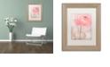"Trademark Global Cora Niele 'Single Rose Pink Flower' Matted Framed Art, 11"" x 14"""