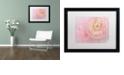 """Trademark Global Cora Niele 'Soft Pink Flower Bouquet' Matted Framed Art, 16"""" x 20"""""""