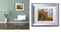 "Trademark Global Jenny Newland 'Playful Curiosity' Matted Framed Art, 11"" x 14"""