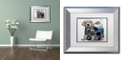 """Trademark Global Jenny Newland 'Puppy Tails' Matted Framed Art, 11"""" x 14"""""""