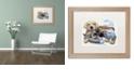 "Trademark Global Jenny Newland 'Sweet Puppy Tales' Matted Framed Art, 16"" x 20"""