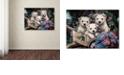 "Trademark Global Jenny Newland 'Lovable Westies' Canvas Art, 24"" x 32"""