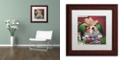 "Trademark Global Jenny Newland 'Beginner's Luck' Matted Framed Art, 11"" x 11"""