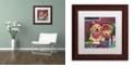 "Trademark Global Jenny Newland 'Poker Dogs' Matted Framed Art, 11"" x 11"""