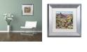 "Trademark Global Jenny Newland 'Grand Canyon Babies' Matted Framed Art, 11"" x 11"""