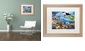 "Trademark Global Jenny Newland 'Sealife' Matted Framed Art, 16"" x 20"""