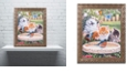 "Trademark Global Jenny Newland 'Splashing Up Some Fun' Ornate Framed Art, 11"" x 14"""