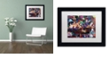 """Trademark Global Jenny Newland 'While Kittens Are Away' Matted Framed Art, 11"""" x 14"""""""