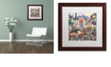"""Trademark Global Jenny Newland 'Desert Buddies' Matted Framed Art, 16"""" x 16"""""""
