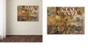 """Trademark Global Nick Bantock 'Luggage Label' Canvas Art, 35"""" x 47"""""""
