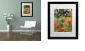 "Trademark Global Nick Bantock 'Oregon Pears' Matted Framed Art, 16"" x 20"""