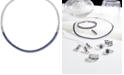 """EFFY Collection EFFY® Sapphire (10-1/10 ct. t.w.) & Diamond (1-1/5 ct. t.w.) Fancy 18"""" Collar Necklace in 14k White Gold"""