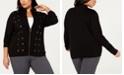 Belldini Black Label Plus Size Laced-Grommet Detail Sweater
