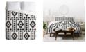 Deny Designs Holli Zollinger Geo Panel White King Duvet Set