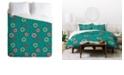 Deny Designs Holli Zollinger Suzani Turquoise King Duvet Set