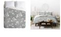 Deny Designs Holli Zollinger Linen Floral Mint Queen Duvet Set