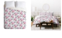 Deny Designs Iveta Abolina Snow Rose King Duvet Set
