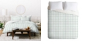 Deny Designs Holli Zollinger French Linen Grid Emerald Twin Duvet Set