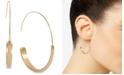 Lucky Brand Gold-Tone Modern Medium Hoop Earrings