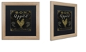 "Trademark Global Color Bakery 'La Cuisine V' Matted Framed Art, 16"" x 16"""