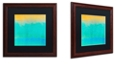 """Trademark Global Color Bakery 'Gradients Ii' Matted Framed Art, 16"""" x 16"""""""