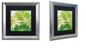 "Trademark Global Color Bakery 'Brasilia Ii' Matted Framed Art, 16"" x 16"""