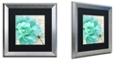 "Trademark Global Color Bakery 'Petals Impasto Iii' Matted Framed Art, 16"" x 16"""