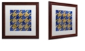 "Trademark Global Color Bakery 'Houndstooth Iii' Matted Framed Art, 16"" x 16"""